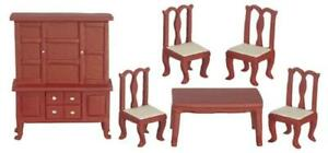Dolls House Dining Room Furniture Set Suite 1:24 Half Inch Scale