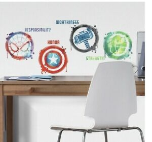MARVEL ICONS Wall Decals Captain America Hulk Spider-Man Thor Stickers Decor New