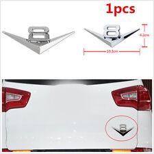 1pc Car Rear Side Wing Silver V8 Logo Chrome 3D Metal Emblem Badge Decal Sticker