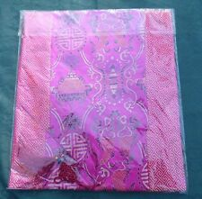 """Chinese silk tapestry Table runner 76""""L X 13W and 7.5"""" end Tassels"""