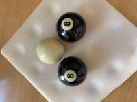 8 ball pool balls and white cue ball