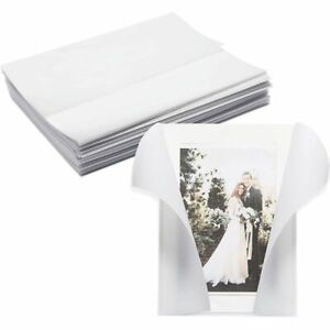 Vellum Paper Jackets for Wedding Invitations, Translucent (5 x 7 in, 100 Pack)