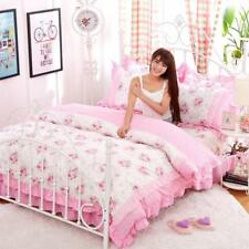 Girls Comfortable Bedding Set Duvet Covers Pillowcase Beautiful Style Bed Skirts