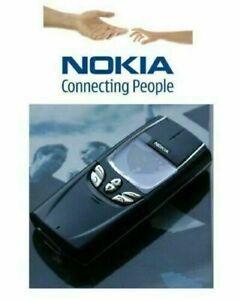 NEW Nokia 8850 -Black (Unlocked) Mobile Phone Full Box with warranty-UK seller