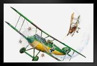 British RFC Airco DH2 German AlbatrosDIII Print ProFrames Framed Poster 18x12