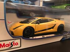 Maisto 1:18 Scale Diecast Model - Lamborghini Gallardo Superleggera (Yellow)