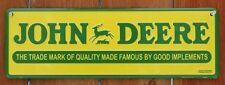 John Deere Trademark Tractor Metal Sign Farm Barn Country Home Garage C132
