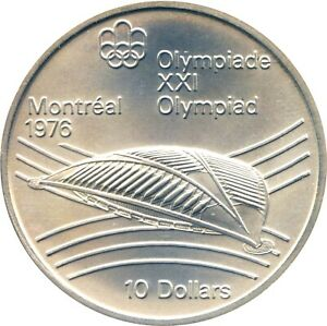 $10 CANADA 1976 Montreal Olympics VELODROME for CYCLING HUGE Silver