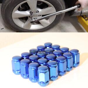 For Honda Toyota Mazda Lexus 12X1.5MM Steel Wheel Rim Blue Bolts Lug Nut QTY=20