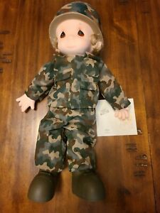 Precious Moments I'm In The Lord's Army Doll, D003, Military Vintage