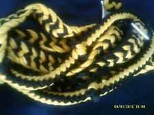 "Reins Contest/Barrel Racing Bright Yellow & Black 8' 8"" 1"" Wide Showman Brand"