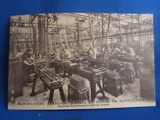cpa 42 st etienne manufacture armes & cycles machines a canons