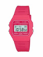 Classic Hot Pink Casio Digital Water Resistant Watch F91WC-4AEF