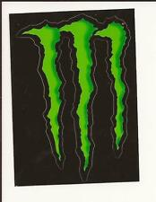Lot of 4 Authentic Monster Energy Logo Sticker Decal Sponsor Sheet Kit 11cmx8cm