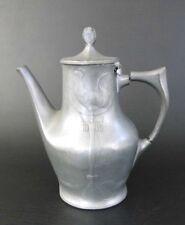 Kayserzinn Kaffeekanne Kanne 4402 Design Entwurf H. Leven Jugendstil Zinn Antik