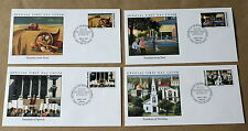 WORLD WAR 2 ROOSEVELT'S FOUR FREEDOMS SPEECH SET OF 4 1991 MARSHAL ISLANDS FDCS