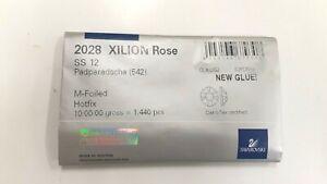 sealed package,1440 swarovski hot-fix xilion flatbacks,12ss padparadscha #2028