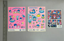 Vintage  1980's Sanrio Little Twin Stars  Stickers Seals