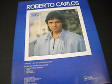 ROBERTO CARLOS release now his Spanish album 1987 PROMO POSTER AD mint condition
