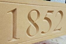 Deeply engraved Datestone sign 500 x 200mm x 50mm