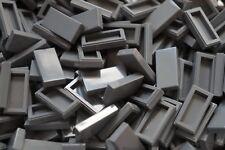 LEGO 50 x DARK GREY  FLAT TILES BRICKS 1 x 2 3069 BRAND NEW