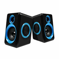 Surround Portable Computer Speakers With Stereo Bass Usb Wired Powered Mult C5B9