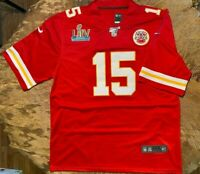 Patrick Mahomes #15 KC Chiefs Red Super Bowl 54 Jersey 3XL
