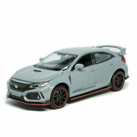 Honda Civic Type R 1:32 Scale Model Car Diecast Toy Vehicle Collection Gift Gray