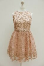 ASOS Blush Pink Glitter Embellished Mesh Mini Skater Party Ballerina Dress 10 38