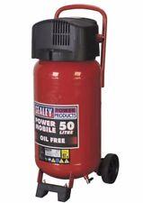 Sealey 50Litre 2HP Up-Stand Vertical Belt Drive Oil Free Air Compressor SAC05020