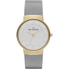 SKAGEN Damen Armbanduhr SKW2076 silber gelbgold