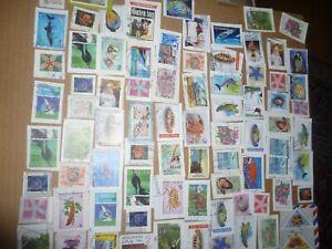 40 grams mixtures Maldives stamps on single paper kiloware