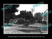 OLD LARGE HISTORIC PHOTO OF INDIANAPOLIS INDIANA, THE 58th RAILROAD STATION 1940