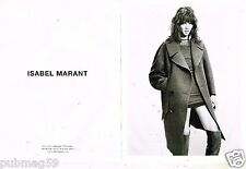 Publicité Advertising 2011 (2 pages) Haute Couture Isabel Marant