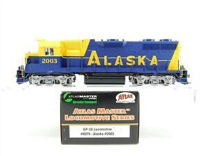 HO Scale Atlas Master 8979 ARR Alaska Railroad GP38 Diesel Locomotive #2003 DCC