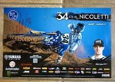 *PHIL NICOLETTI*SIGNED*AUTOGRAPHED*POSTER*YAMAHA*MONSTER*# 34*2016*COA*PROOF*