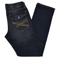 Rock & Republic Mens Jeans Straight Leg Regular Fit Light Medium Dark Blue New