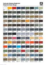 Vallejo Modelo rango de núcleo de aire (2015) 137 X 17ml Colores Acrílico Aerógrafo Listo