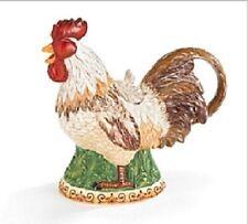 "burton+Burton Ceramic 6 Cup Teapot Tea Pot 9.2"" RISE AND SHINE ROOSTER"