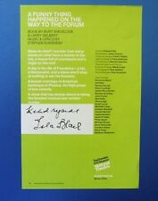 THEATRE FLYER A FUNNY THING HAPPENED ON THE WAY TO THE FORUM SIGNED SLA BLAIR