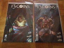 Lot de 2 comics VO ''13 Coins'' N°1 (phantom cover) et N°2 (Simon Bisley)