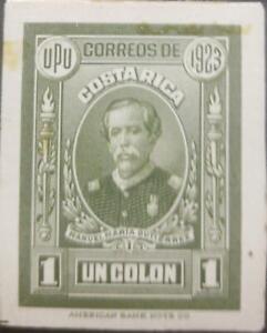 O) 1923 COSTA RICA, DIE PROOF, MANUEL MARIA GUTIERREZ -MUSICIAN COMPOSER NATIONA
