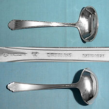 LUNT STERLING GRAVY LADLE ~  WILLIAM & MARY ~ MONO M