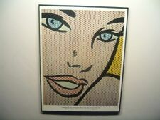 """FRAMED 8.5""""x11"""" vintage art print """"Girl at Piano"""" (detail) 1963 Roy Lichtenstein"""