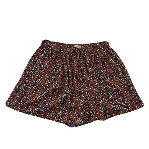 NEW J Crew Mercantile Floral Print Elastic Waist Shorts Women's S Multicolor