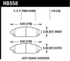 Hawk for 06-09 Jeep Commander / 05-09 Grand Cherokee Front Performance for Ceram