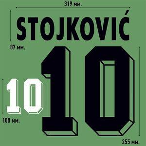 STOJKOVIC 10. Yugoslavia Away football shirt 1998 - 2000 FLOCK NAMESET NAME SET