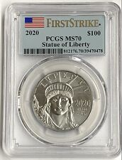 2020 1 oz US Platinum American Eagle Liberty PCGS MS70 $100 Flag Label FS