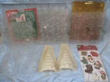 LOT 20 Christmas Plastic Chocolate Candy Soap Molds Suckers Santa Snowman Wreath