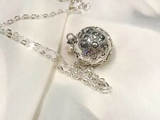 Harmony Chime Ball Bola Pregnancy Pendant Necklace 925 Silver with Chain